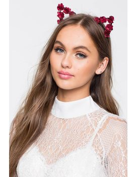 Rose Romance Cat Ear Headband by A'gaci