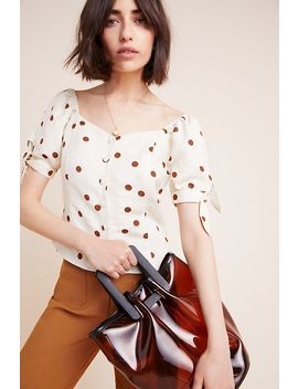 Frenchie Polka Dot Blouse by Moon River