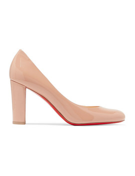 Lady Gena 85 Patent Leather Pumps by Christian Louboutin