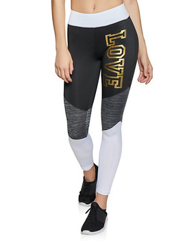 Love Tri Tone Activewear Leggings by Rainbow