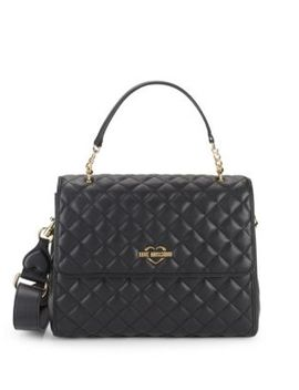 Diamond Quilted Satchel by Love Moschino