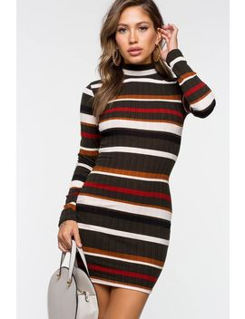 Abby Stripe Bodycon Dress by A'gaci