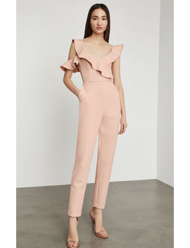 One Shoulder Ruffle Jumpsuit by Bcbgmaxazria