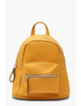 Grainy Mini Rucksack by Boohoo