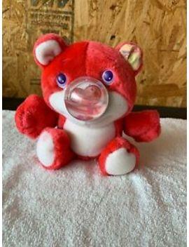 Pink Plush Nosy Bear 1989 Playskool Hearts Bubble Nose I Love You Bears Shaker by Playskool