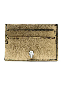 Embellished Metallic Textured Leather Cardholder by Alexander Mc Queen