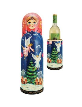 The Holiday Aisle Fifer Angels 1 Bottle Tabletop Wine Rack by The Holiday Aisle