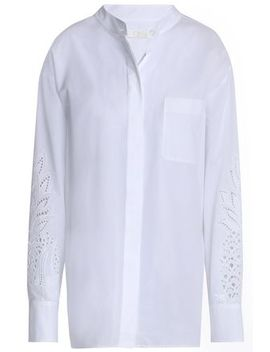 Broderie Anglaise Trimmed Cotton Shirt by ChloÉ