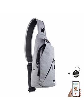 Peak Gear Sling Crossbody Backpack   Urban Messenger Day Bag (Gray) by Peak Gear