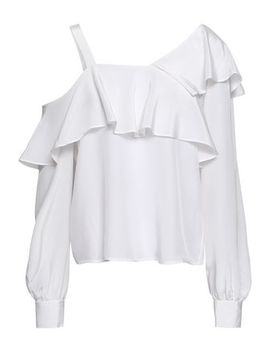 Eliza Cutout Ruffled Silk Blouse by A.L.C.