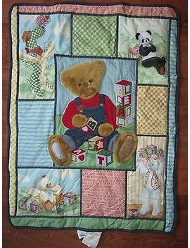 Bjt Blue Jean Teddy Bear Plush Comforter Baby Blanket Crib Teddy And Friends by Bjt