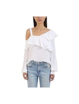 A.L.C. Women's Eliza Ruffled Asymmetric Silk Blouse Gesso by A.L.C.