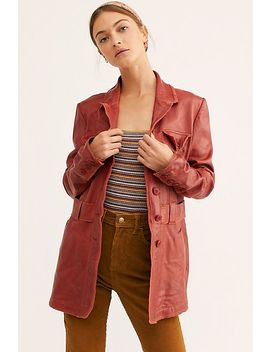 Carmen Leather Jacket by Free People