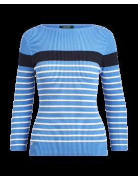 Cotton Blend Boatneck Sweater by Ralph Lauren