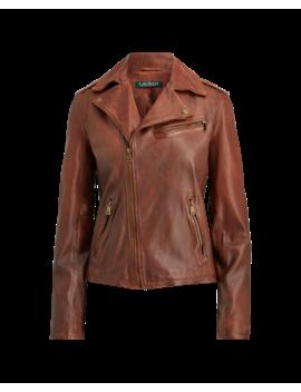 Tumbled Lambskin Jacket by Ralph Lauren