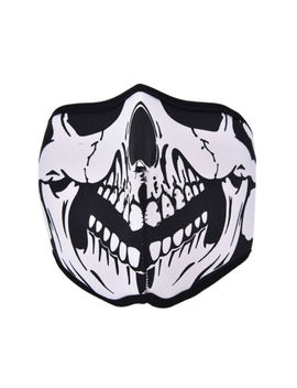 Motorcycle Cycling Ski Outdoor Ghost Skull Balaclava Neck Hood Full Face Mask Rdr by Unbranded