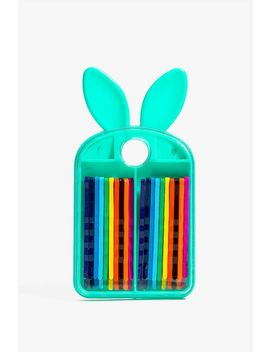Bunny Love Assorted Bobby Pin Set by A'gaci