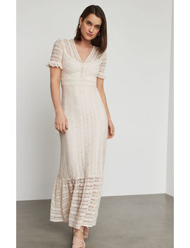 Floral Stripe Lace Maxi Dress by Bcbgmaxazria