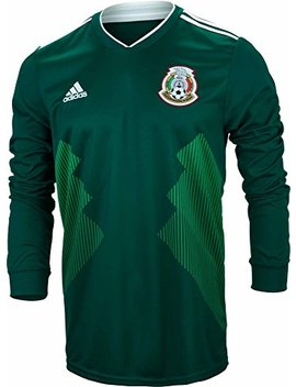 Adidas Men's Soccer Mexico Home Long Sleeve Jersey by Adidas