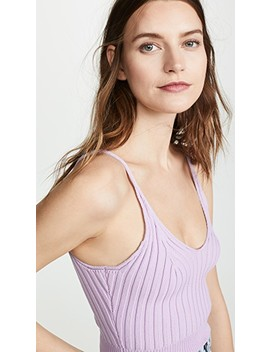 Shrunken Ribbed Bra Top by Alexanderwang.T