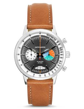 Racing Chronograph Leather Strap Watch, 40mm by Jack Mason