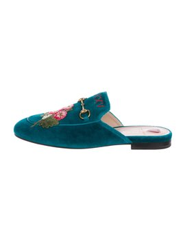Velvet Princetown Mules by Gucci