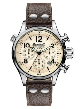 Ingersoll Chronograph Leather Strap Watch, 46mm by Ingersoll Watches