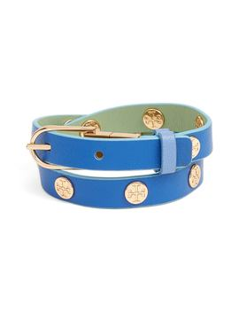 Reversible Double Wrap Logo Bracelet by Tory Burch