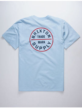 Brixton Oath Light Blue Mens T Shirt by Brixton