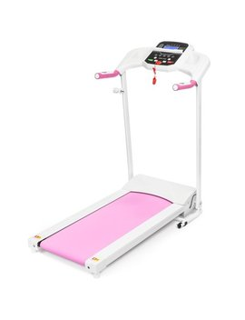 Best Choice Products 5 Speed Treadmill W/ Water Bottle Holder, Media Shelf (Pink) by Best Choice Products