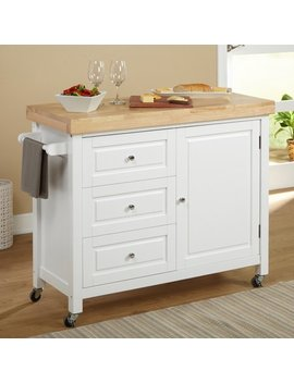 Target Marketing Systems Monterey Kitchen Cart, White by Tms