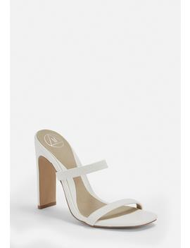 White Double Strap Mules by Missguided