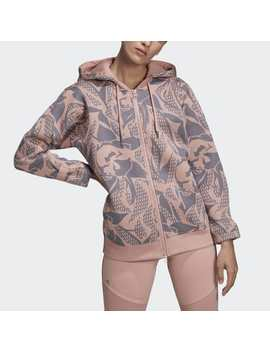 Essentials Printed Hoodie Sweatshirt by Adidas