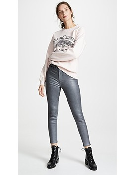 High Rise Coated Ankle Skinny Jeans by Rag & Bone/Jean