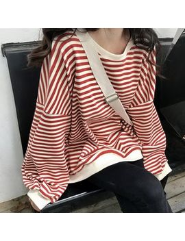 Kaylis   Striped Sweatshirt by Kaylis