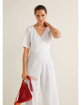 Long Embroidered Jumpsuit by Mango