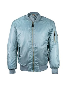 Vkwear Men's Multi Pocket Water Resistant Padded Zip Up Flight Bomber Jacket by Vkwear