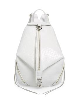 Julian Croc Embossed Leather Backpack by Rebecca Minkoff