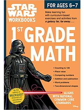Star Wars Workbook: 1st Grade Math (Star Wars Workbooks) by Workman Publishing