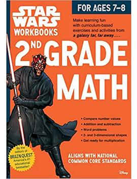 Star Wars Workbook: 2nd Grade Math (Star Wars Workbooks) by Workman Publishing