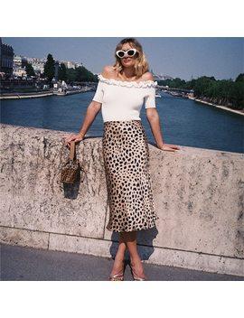 100 Percents Silk Satin The Naomi Skirt Wild Things 3/4 Length Slip Style Skirt Leopard Print Skirt The Naomi Slip Skirt by Lilypaul