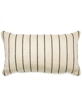 Mo Drn Stripe Outdoor Throw Pillow   14 L X 24 W   Gray/Ivory by Mo Drn