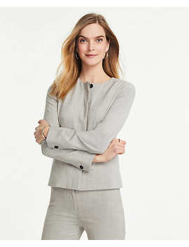 The Crew Neck Jacket In Crosshatch by Ann Taylor