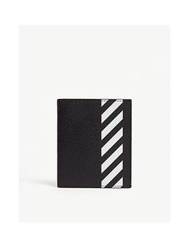Logo Print Leather Cardholder by Off White C/O Virgil Abloh