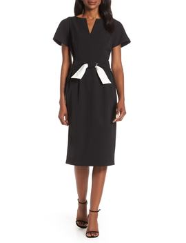 Flutter Sleeve Sheath Dress by Harper Rose
