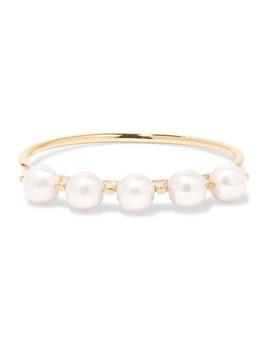 Phoebe Perle Gold Pearl Ring by Sarah & Sebastian