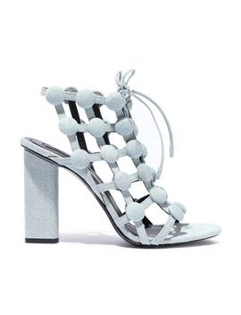 Rubie Studded Denim Sandals by Alexander Wang