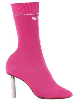 Stretch Knit Sock Boots by Vetements
