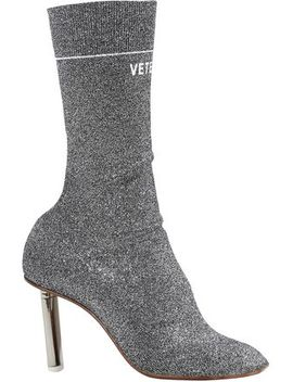 Metallic Knitted Ankle Boots by Vetements