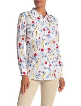 Slim Signature Button Up Silk Top by Equipment